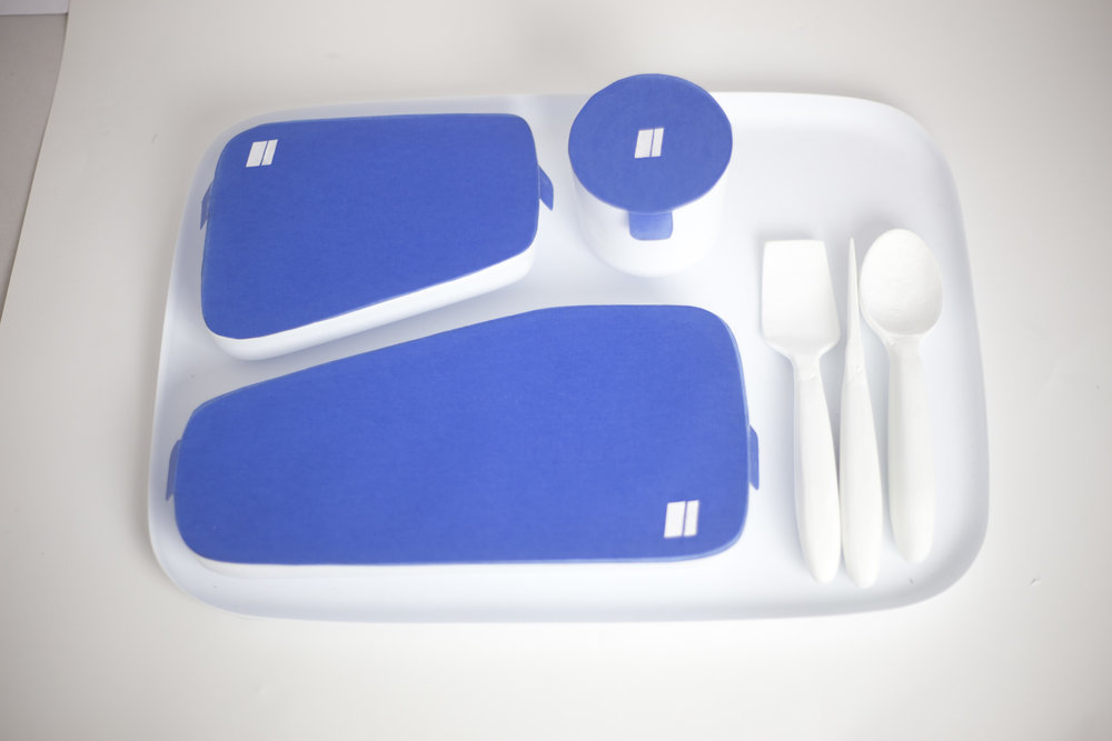 thermoformed tray & utensil prototypes