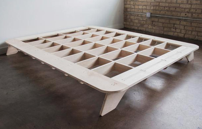 The Trestle Nomadic Bed Frame designed by Craig Stover - coming soon!