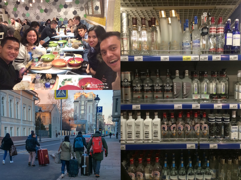 Obed buffeyt, Vodka & Novy Arbat
