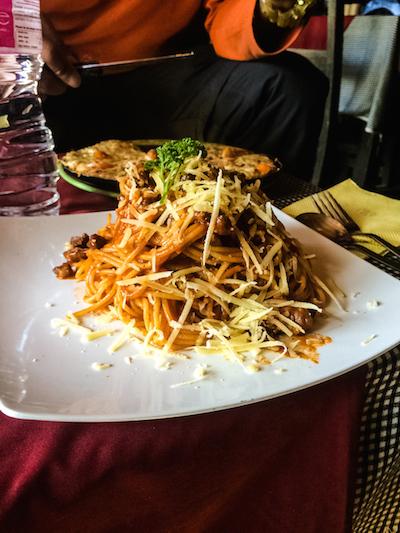 Spaghetti jumbo di Bob Marley Cafe