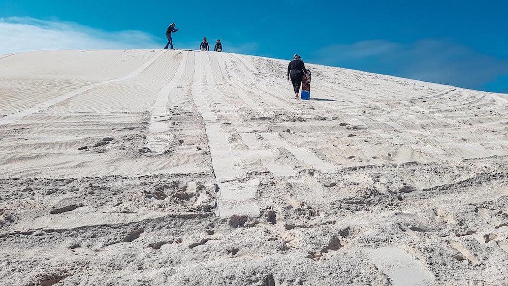 Uphill Sand Boarding Lancelin