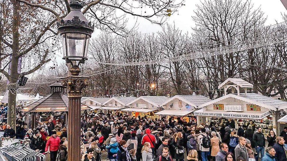 Paris Christmas Market Champs Elysees