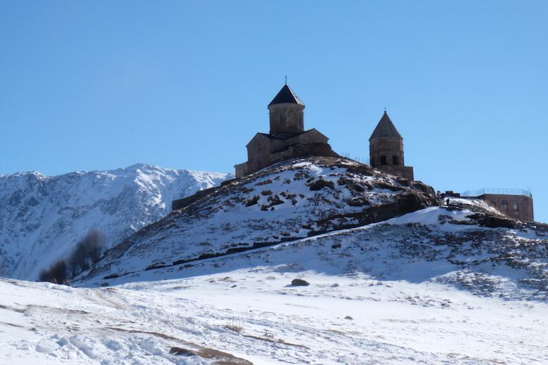 Gergeti Trinity Church, Kazbegi.Pic Anindithodimask.