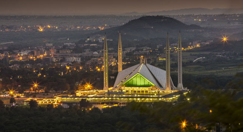 Faisal Mosque, Islamabad. Pic Google.
