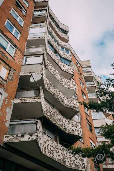 Civilian complex (Bosnian Muslims) which still in brutal condition.