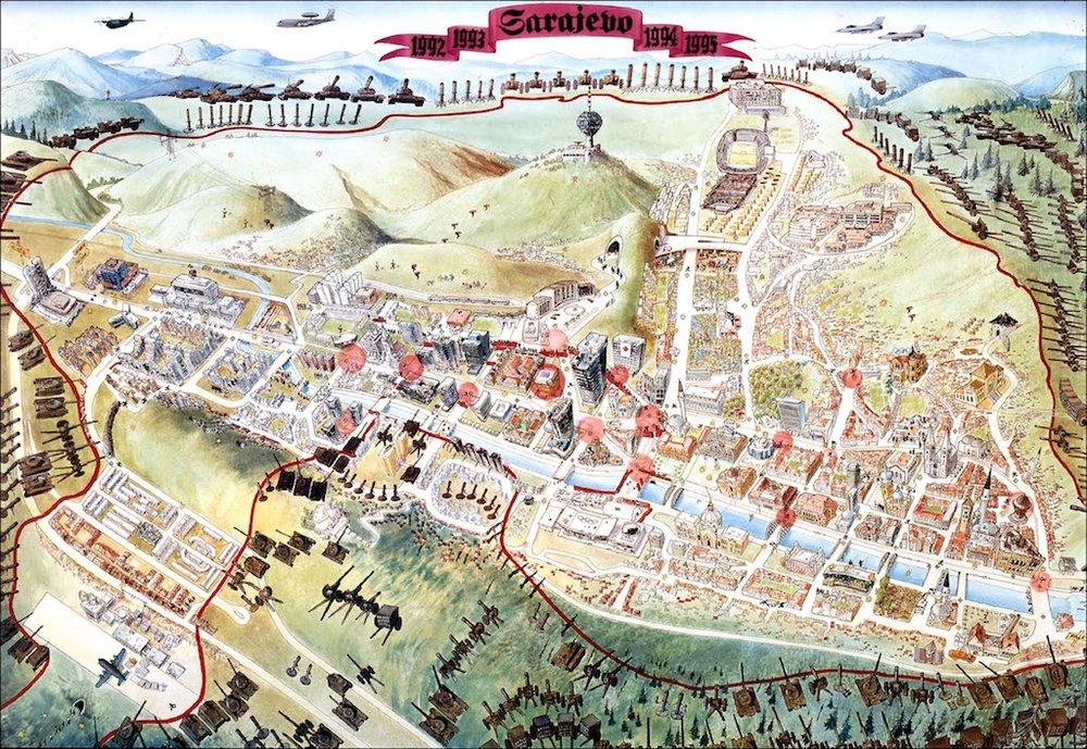 Sarajevo Siege Map