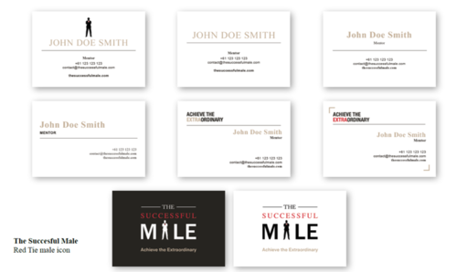 TSM Mentor Business Card Gallery - Gold Foil Options