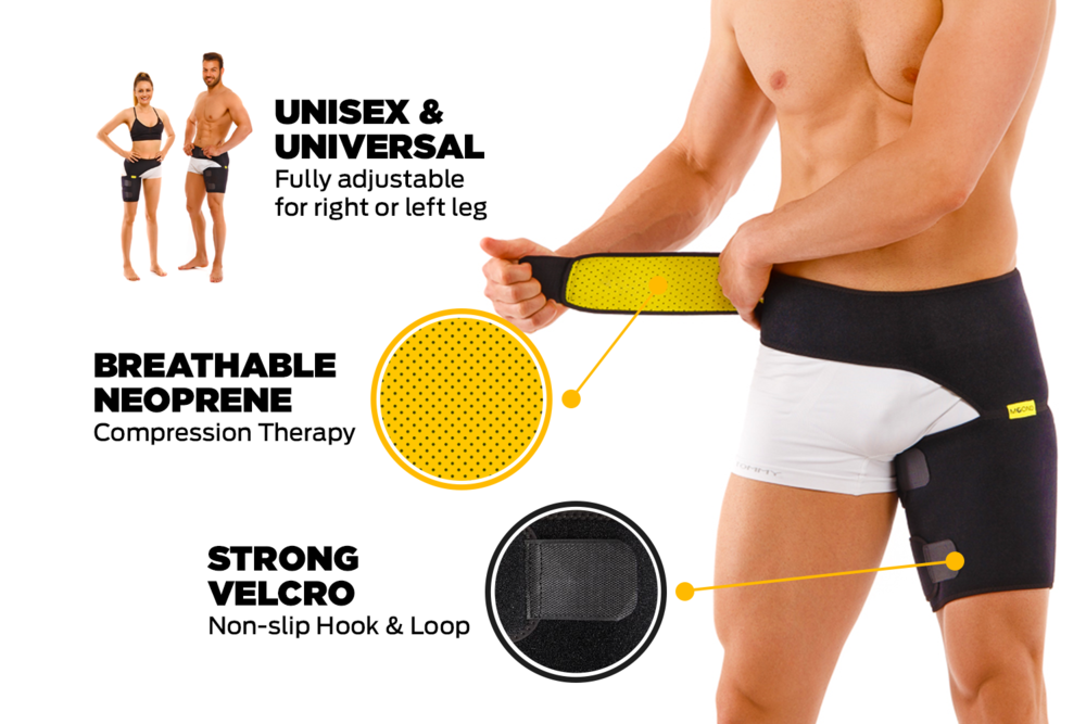 recovery exercices brace for women and men hip groin pulled hamstring