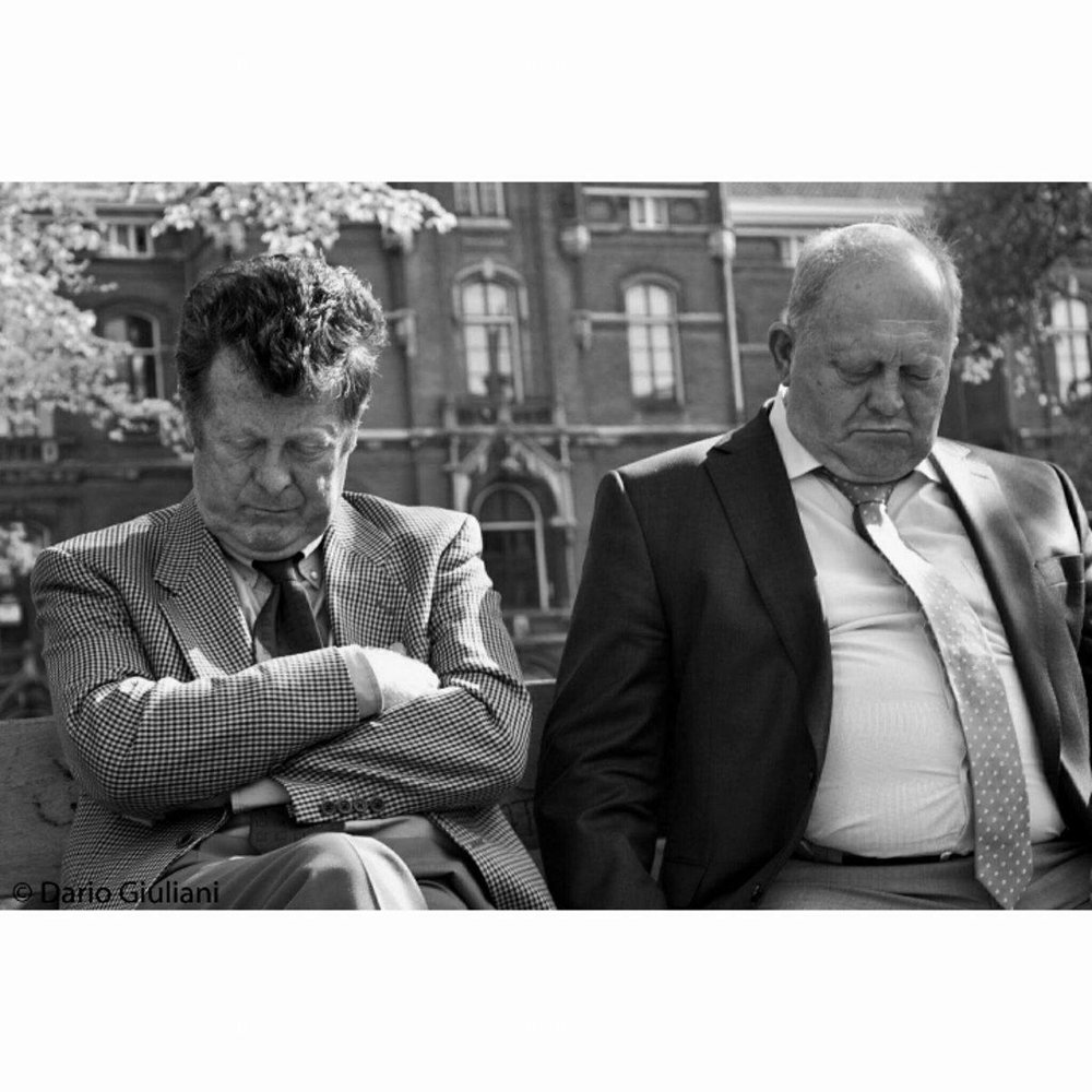 Old pals napping, Amsterdam - May 2013