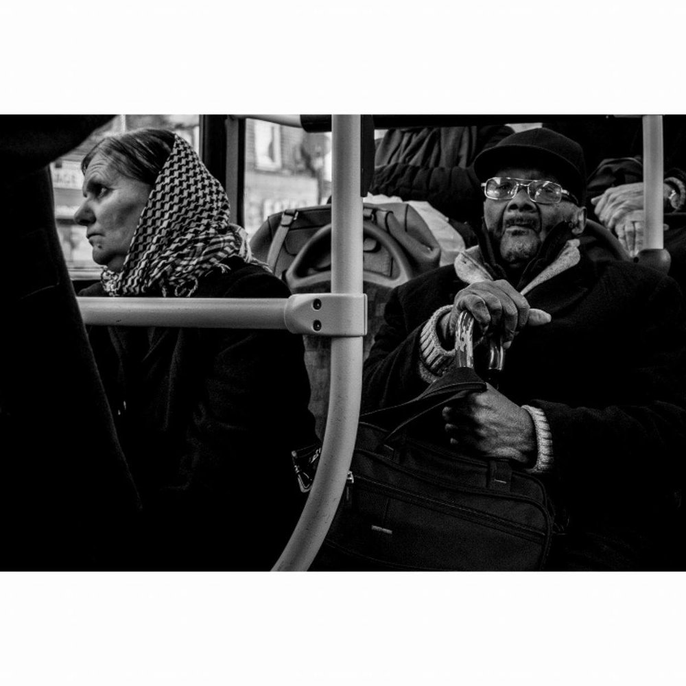 Commuting, London - January 2017