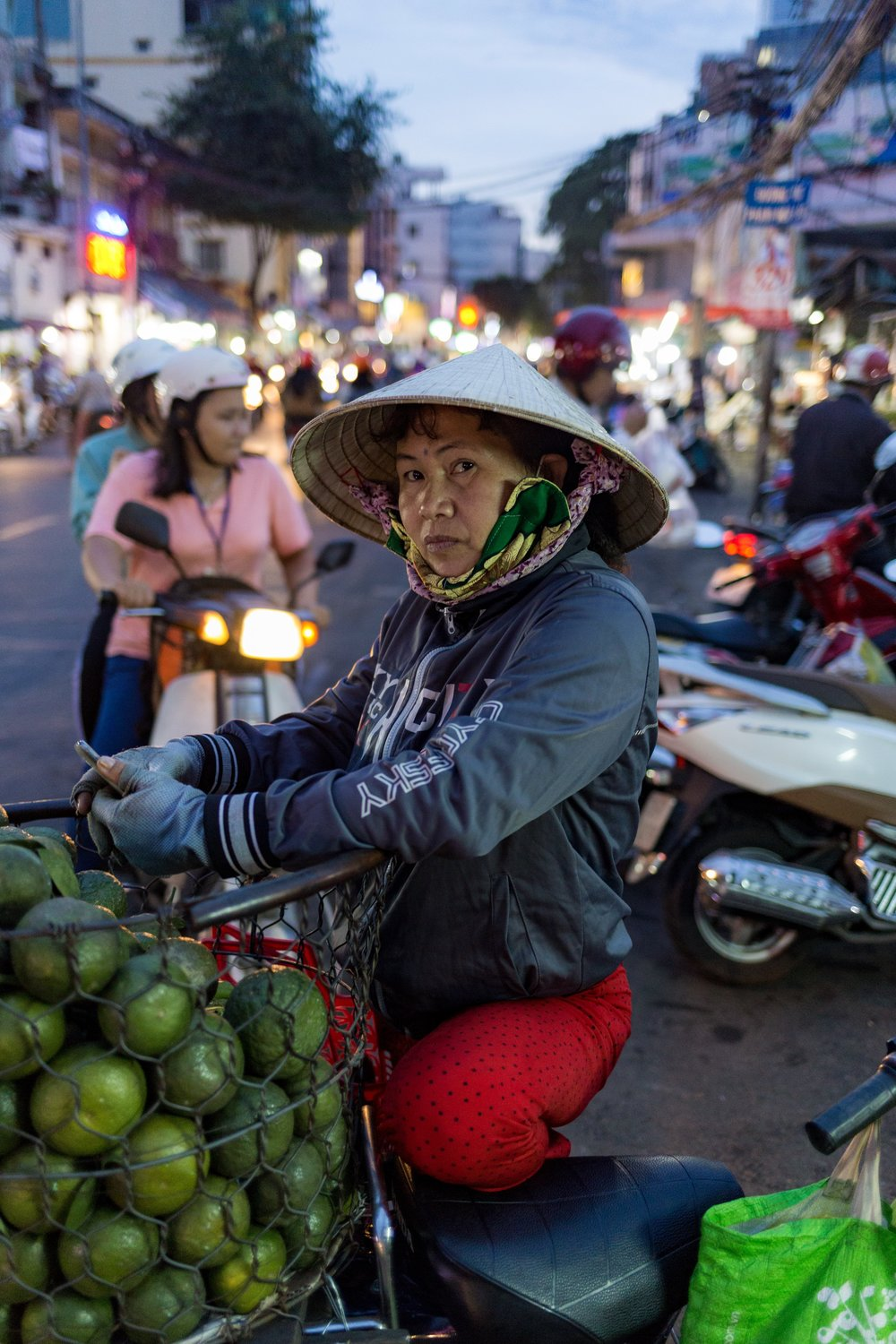 Coconut vendor, Ho Chi Minh - December 2017