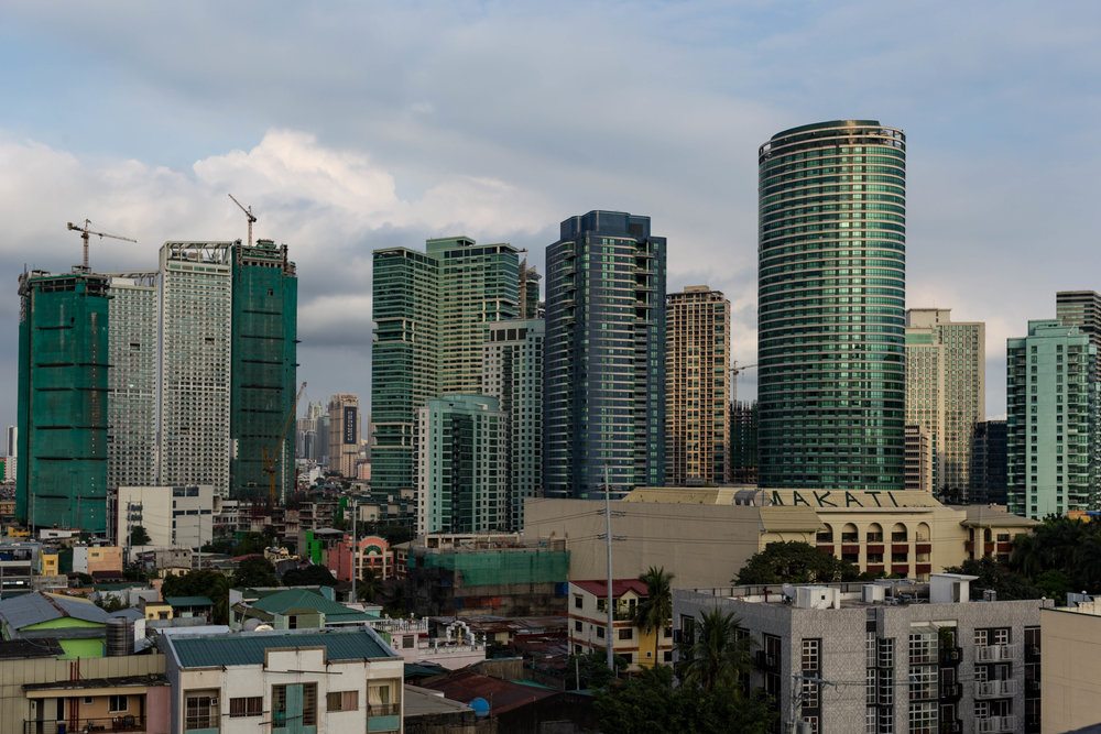 Business District in Manila
