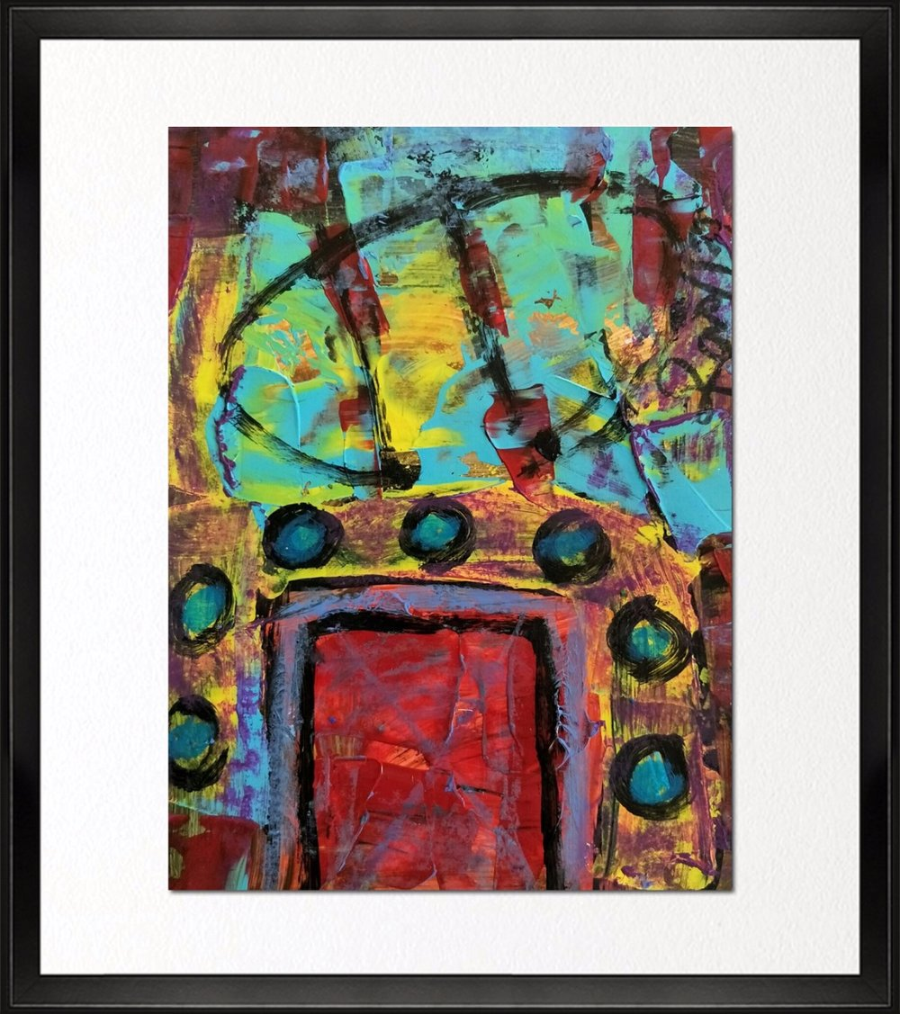 Code - CE 031, Size - 14*16 inches, Mixed media on Indian paper