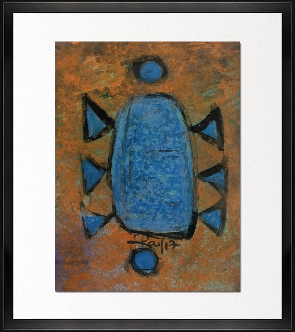 Code - CE 046, Size - 12*14 inches, Mixed media on Indian paper