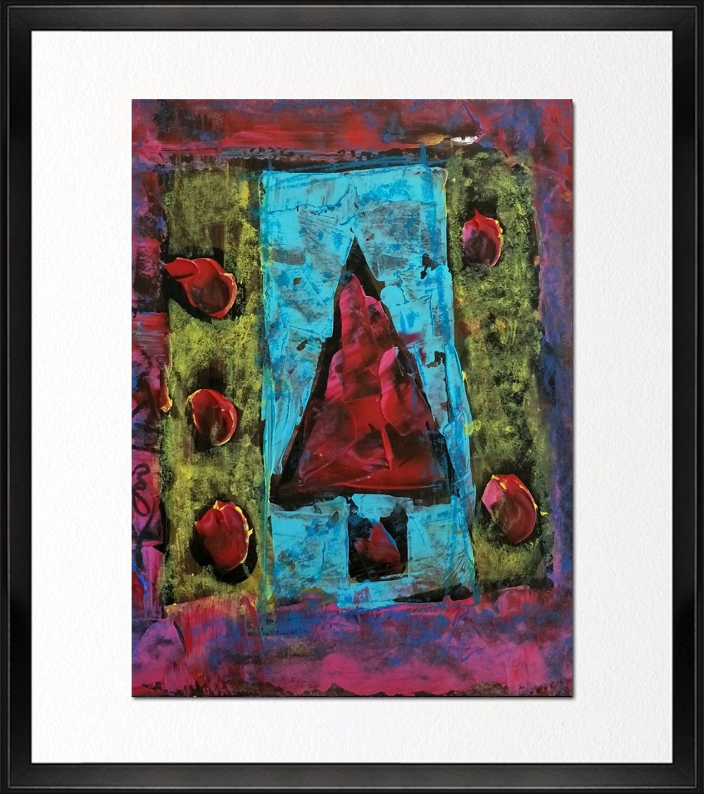 Code - CE 046, Size - 12*16 inches, Mixed media on Indian paper