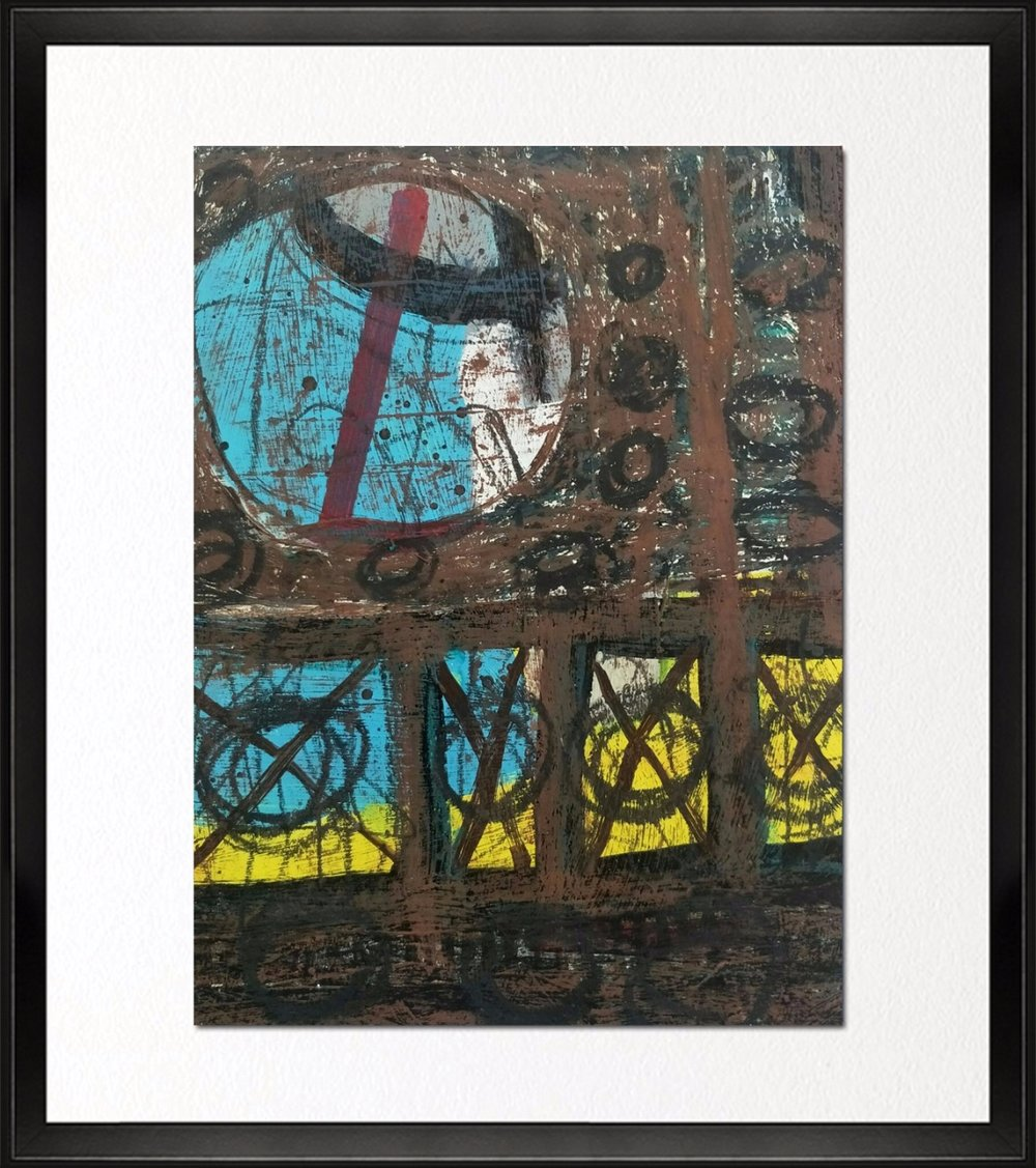 Code - CE 048, Size - 14*18 inches, Mixed media on Indian paper