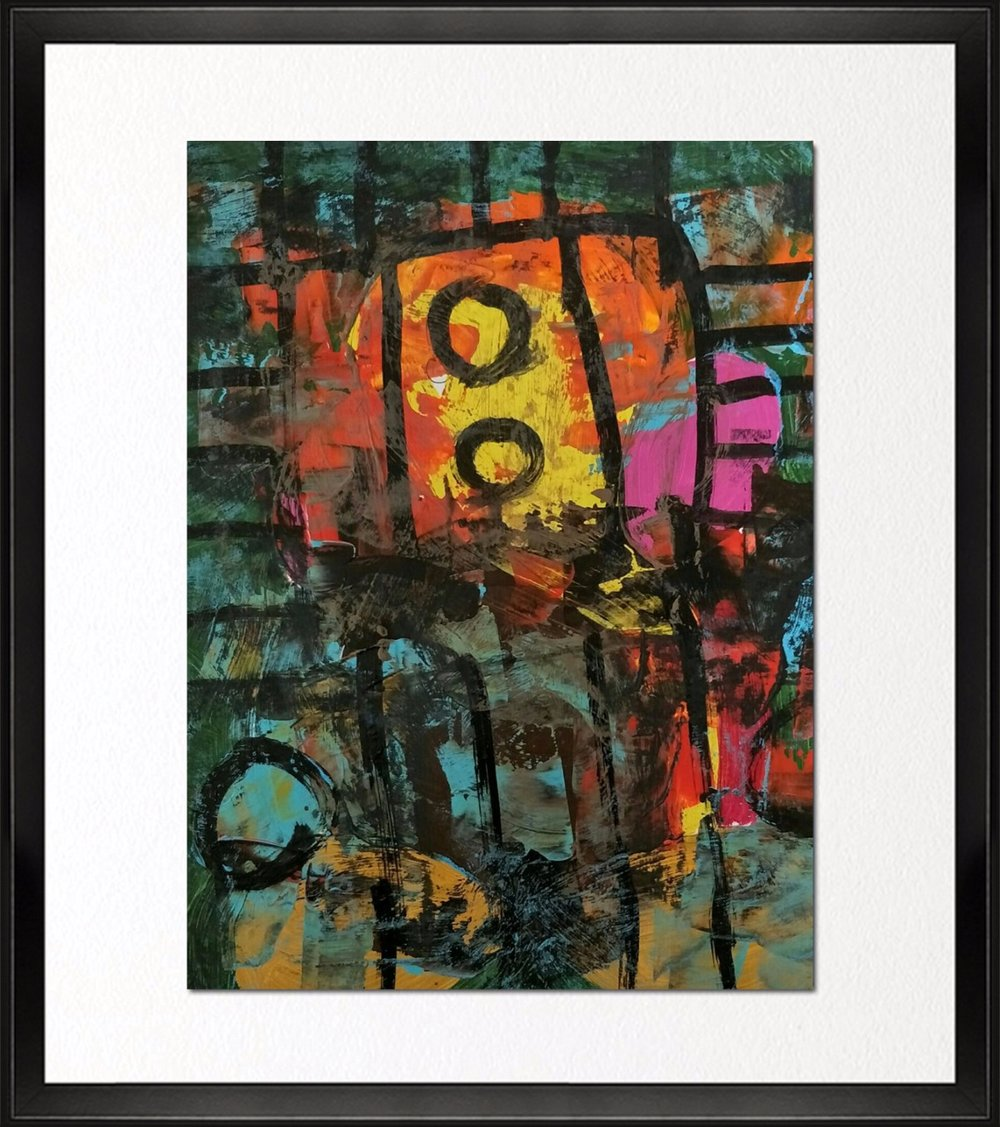Code - CE 048, Size - 14*16 inches, Mixed media on Indian paper