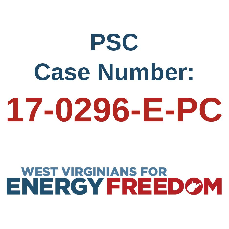 PSC case number for FirstEnergy Pleasants transfer