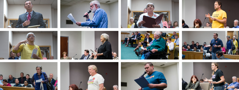 West Virginia residents speak out against    FirstEnergy   's bid for corporate welfare at the PSC's Public Hearings in Parkersburg, Martinsburg and Morgantown. More than 100 people spoke at the Public Comment Hearings. Of those, 71 opposed FirstEnergy's bailout attempt.