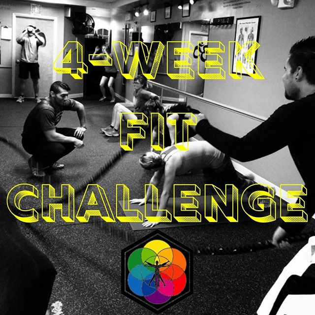 """It's Fitness Monday! 💪 • Did you know that you can jump in for a 4-Week Fit Challenge class to test it out? After the current 4-Week round that ends on April 10th, we have one FINAL 4-Week Fit Challenge class at the current SOL location! • Class description✨: Improve your range of motion, work capacity, stamina, coordination, flexibility, balance, strength, & power in 4 Weeks with the 8 Fundamental Movements of Exercise!  These workouts are based on as many reps as possible over 4-minute cycles to do your best work every time! 🙌😄 • If you want to """"jump-in"""" for a class, you can! 🤩 Head to our Facebook for links to jump in for a few classes, or to sign up at the Early Bird Rate (price good until April 17th)"""