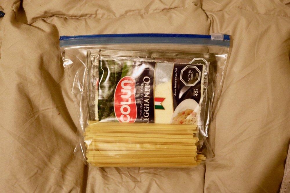 salkantay trek on your own food dinner
