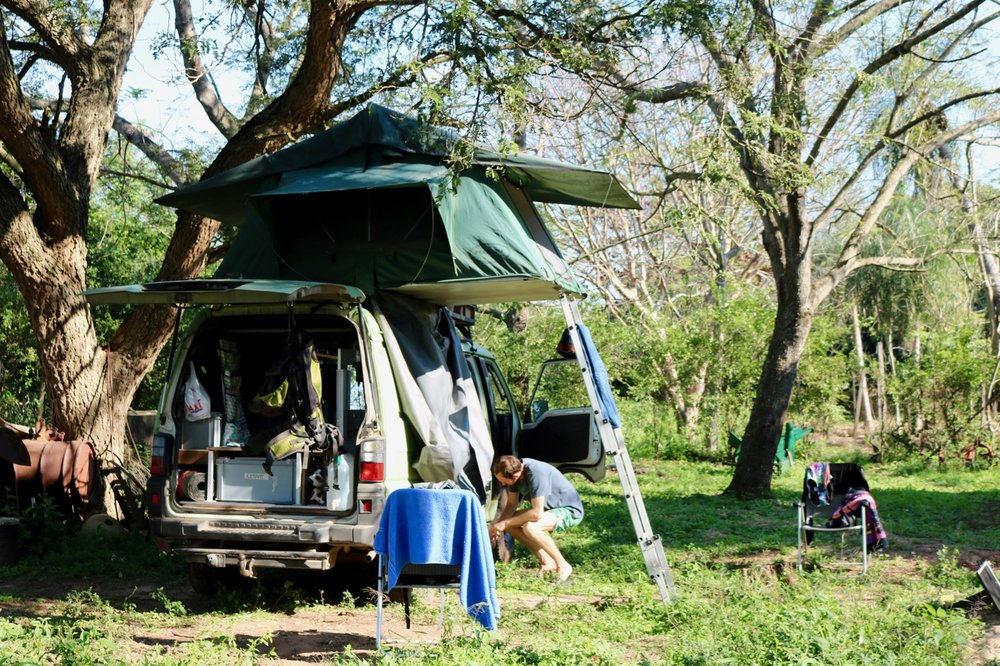 overlanding south america campervan rooftop tent