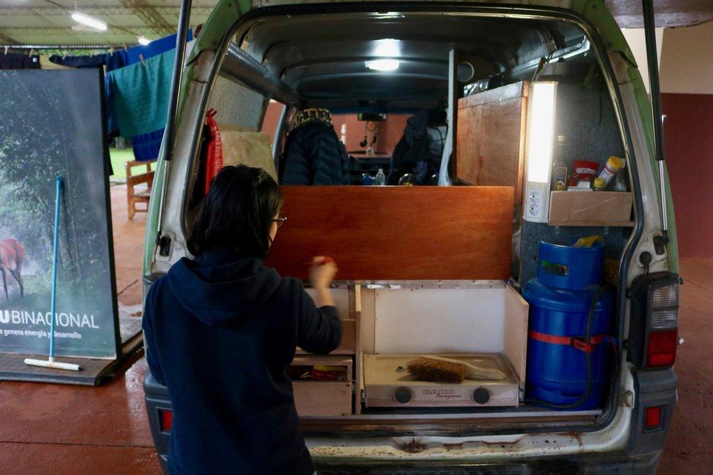 mitsubishi delica campervan conversion lacquer
