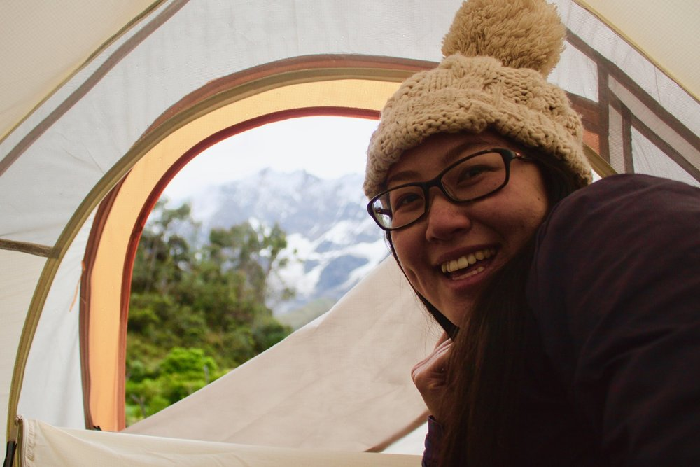 salkantay trek campsite soraypampa