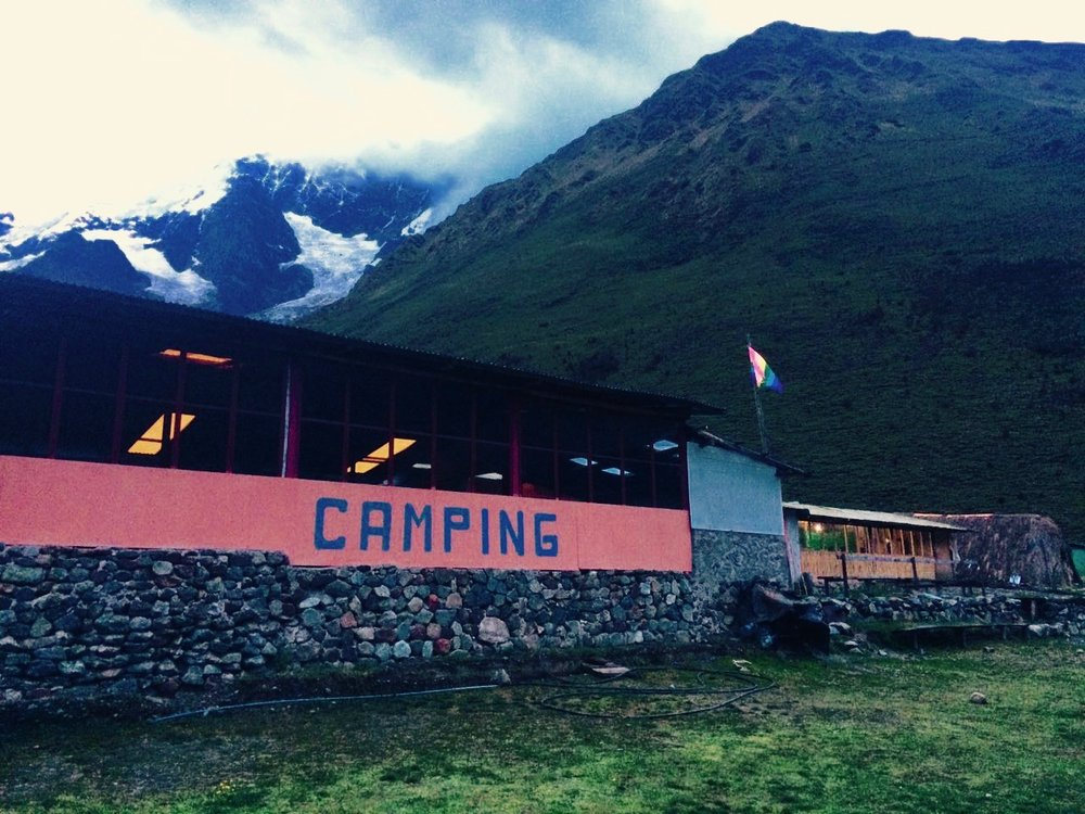 salkantay trek on your own campsite day 1