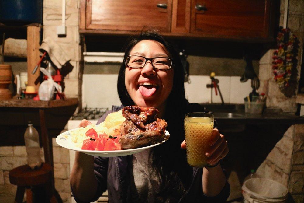 spit roast chicken paraguay