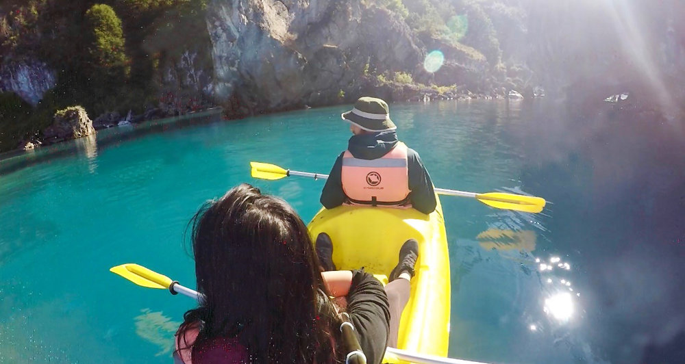 patagonia highlights - kayaking marble caves puerto rio tranquilo