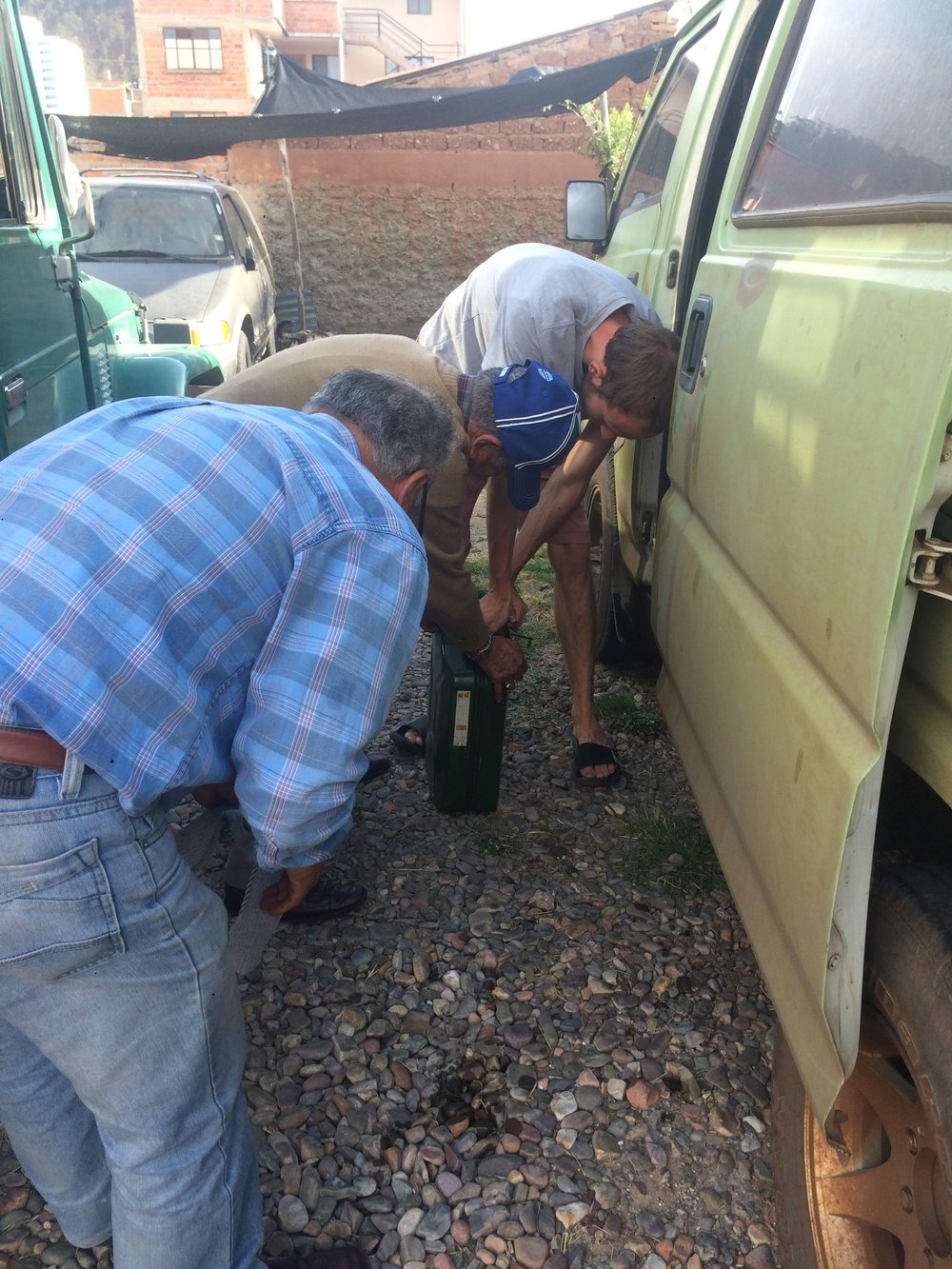 overlanding south america: accidentally drank diesel