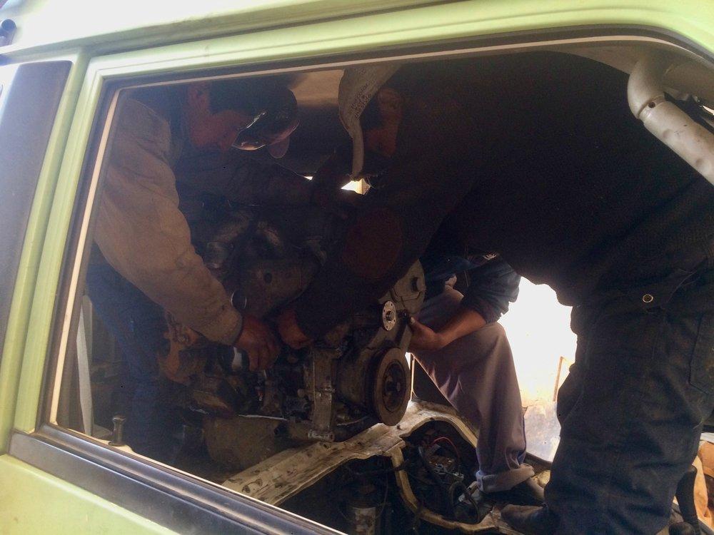 overlanding south america: rebuilding engine