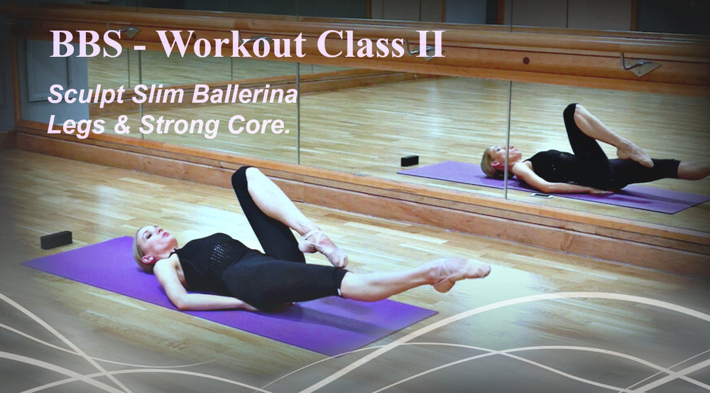 Ballet Body Sculpture - Workout Class II Sculpt Slim Ballerina Legs & Strong Core. The exercises are designed to get you super lean and slender, boost your metabolism, firm and burn! Level : Beginner - Length : Approx. 25min
