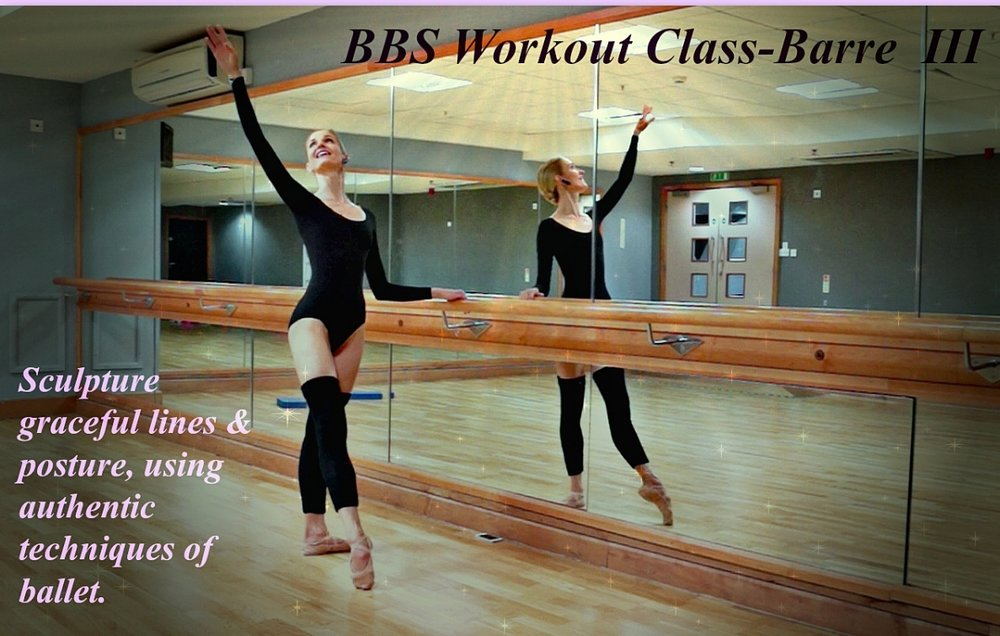 Ballet Body Sculpture - Ballet Barre - III   Sculpture graceful lines & posture, using authentic techniques of ballet. Slim, tone and burn creating your beautiful ballerina - like body!   Level : Beginner/Intermediate Length : Approx. 30min