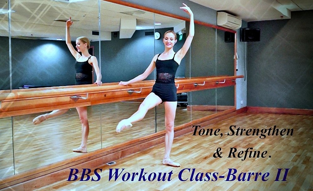 Ballet Body Sculpture - Ballet Barre - II   Based on classical ballet dancer's barre, this Ballet Body Sculpture Workout class is created to help refining elegant posture, work the thighs, glutes, core, tone up all your muscles, lengthen, strengthen and sculpt a ballerina-like body from top to toe.  Level : Beginner/Intermediate Length : Approx. 25min