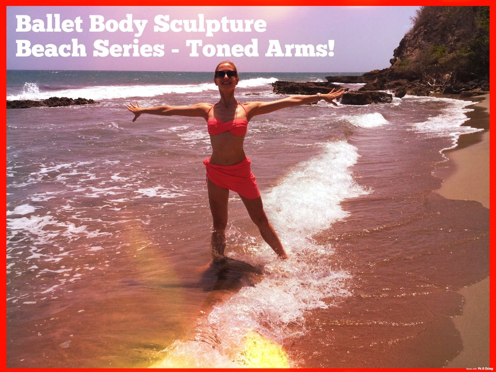 BBS Beach Series - Toned Arms   A perfect way to keep your arms in shape whilst on holiday or away from the studio. Enjoy the quick blast on the beach or at home, sculpting and toning, as well as lengthening the muscles of your upper body, forming a beautiful posture.   Level: All levels   Length : Approx.: 6min