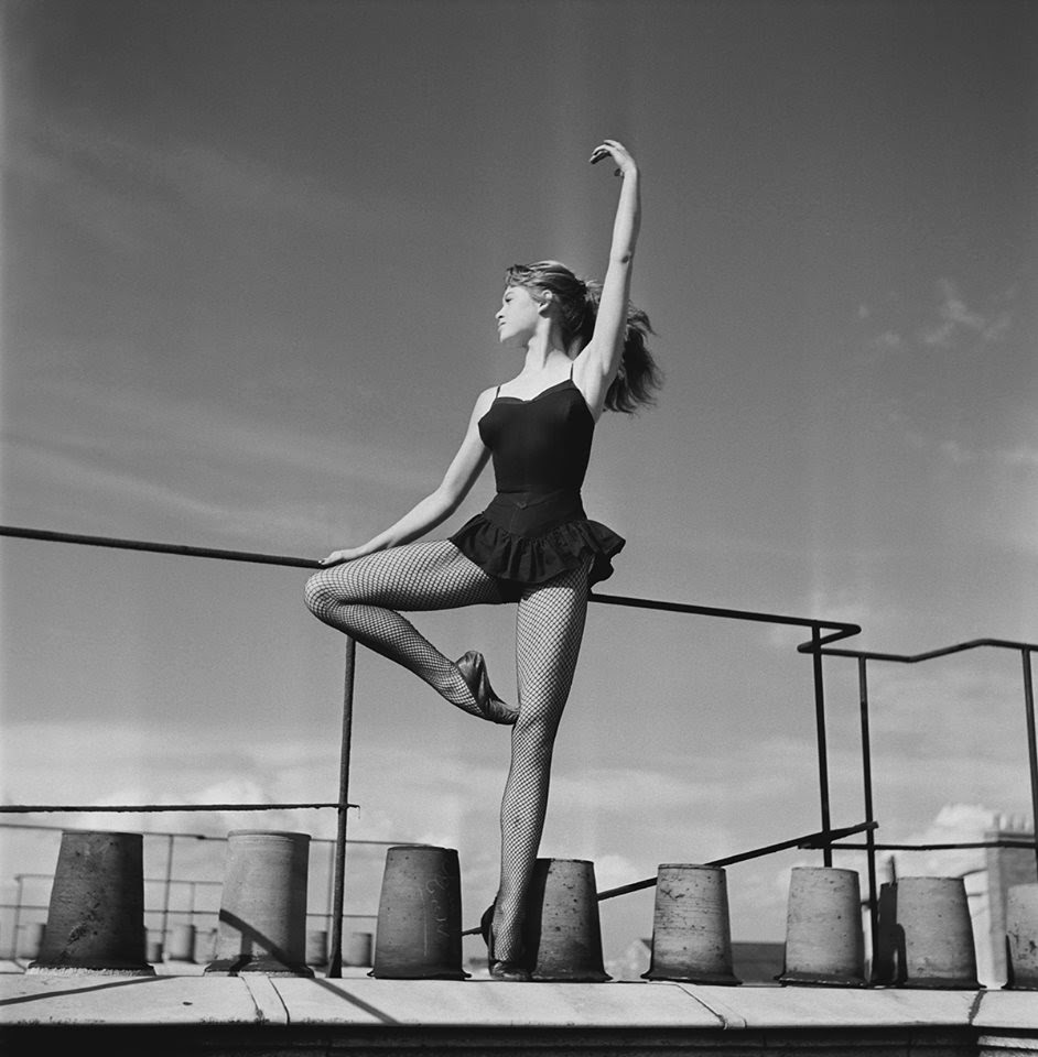 B.Bardot doing ballet barre