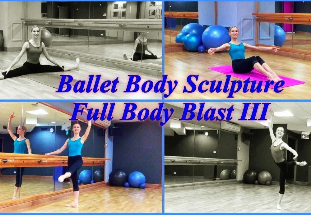 BBS - Full Body Blast III Warm up then build up elevating to challenge, classical movements that will work your entire body and cardio system. Ballet based exercises specifically designed to get you super lean & slender body, boost your metabolism, firm & burn. Includes mats, barre, carter, cardio workouts as well as stretching techniques to condition your body. Level: Fun to challenge! Length : Approx.: 50min