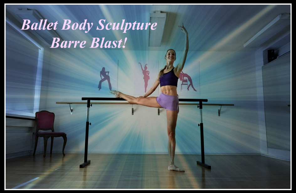 BBS - Ballet Barre Blast!   Create beautiful ballerina legs, sculpt the waistline and align your posture with Ballet Body Sculpture - Ballet Barre Blast! Enjoy exercising by the barre with fun music and get some effective results for your body lines!  Level : All levels  Length : Approx. 24min