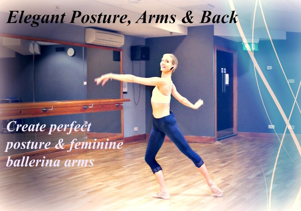 BBS - Elegant Posture, Arms & Back   Create perfect posture & feminine ballerina arms. A graceful workout designed to give you toned, lengthened, elegant, arms and a beautiful back. Low impact, artistic exercises with high impact results. Level : Beginner   Length : Approx. 20min