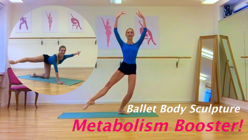 Ballet Body Sculpture Metabolism Booster!   Push up your metabolism to burn calories and improve your overall fitness level with the series of effective Ballet Body Sculpture exercises, creating you super lean muscles, slender, flexible and firm ballet body.  Level: All levels  Length: Approx.: 26min