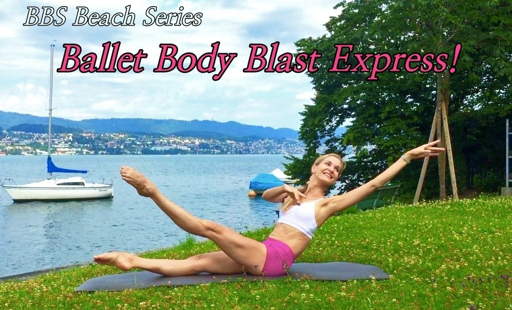 BBS Beach Series – Ballet Body Blast Express!   A quick and intensive workout for whole body, targeting muscles in the core, legs, bottom and upper body. Great choice if you are preparing for a special event and are pressed for time. Sculpt long lean ballerina muscles and enjoy the burn to tone! Level: Fun to challenge Length: Approx. 17min
