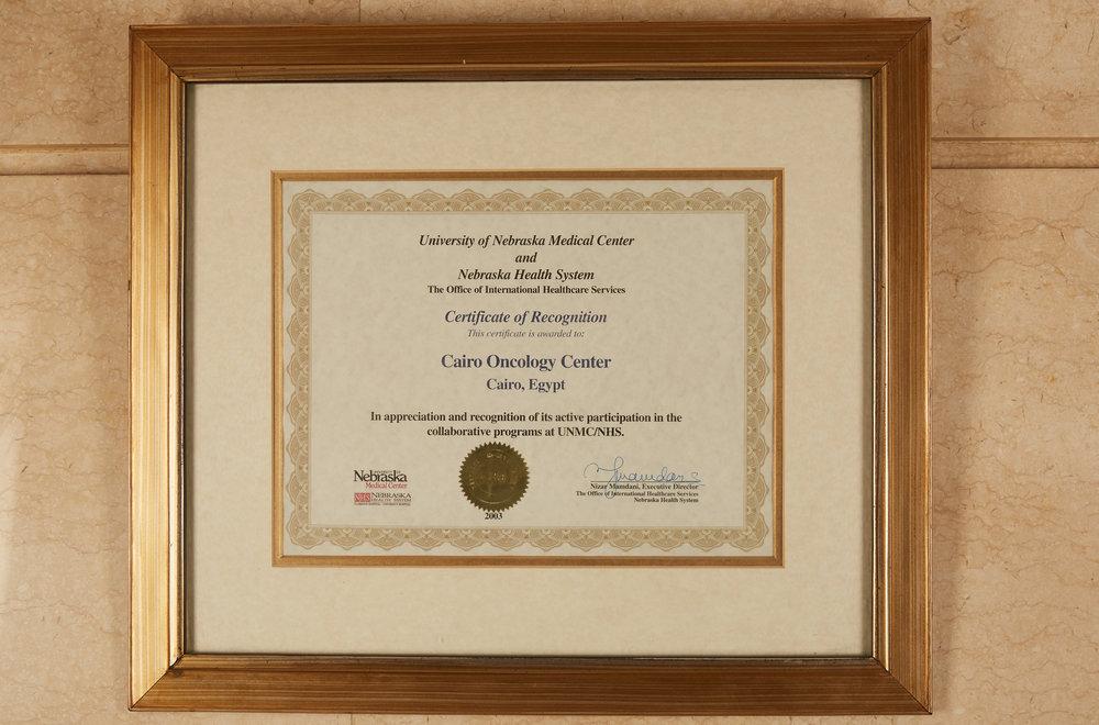 Nebrasaka Certificate