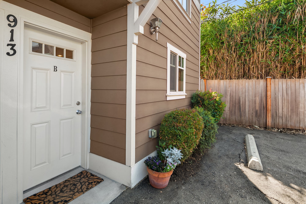 Your own home and garden, with no dues and no HOA. Exterior re-painted in 2012.