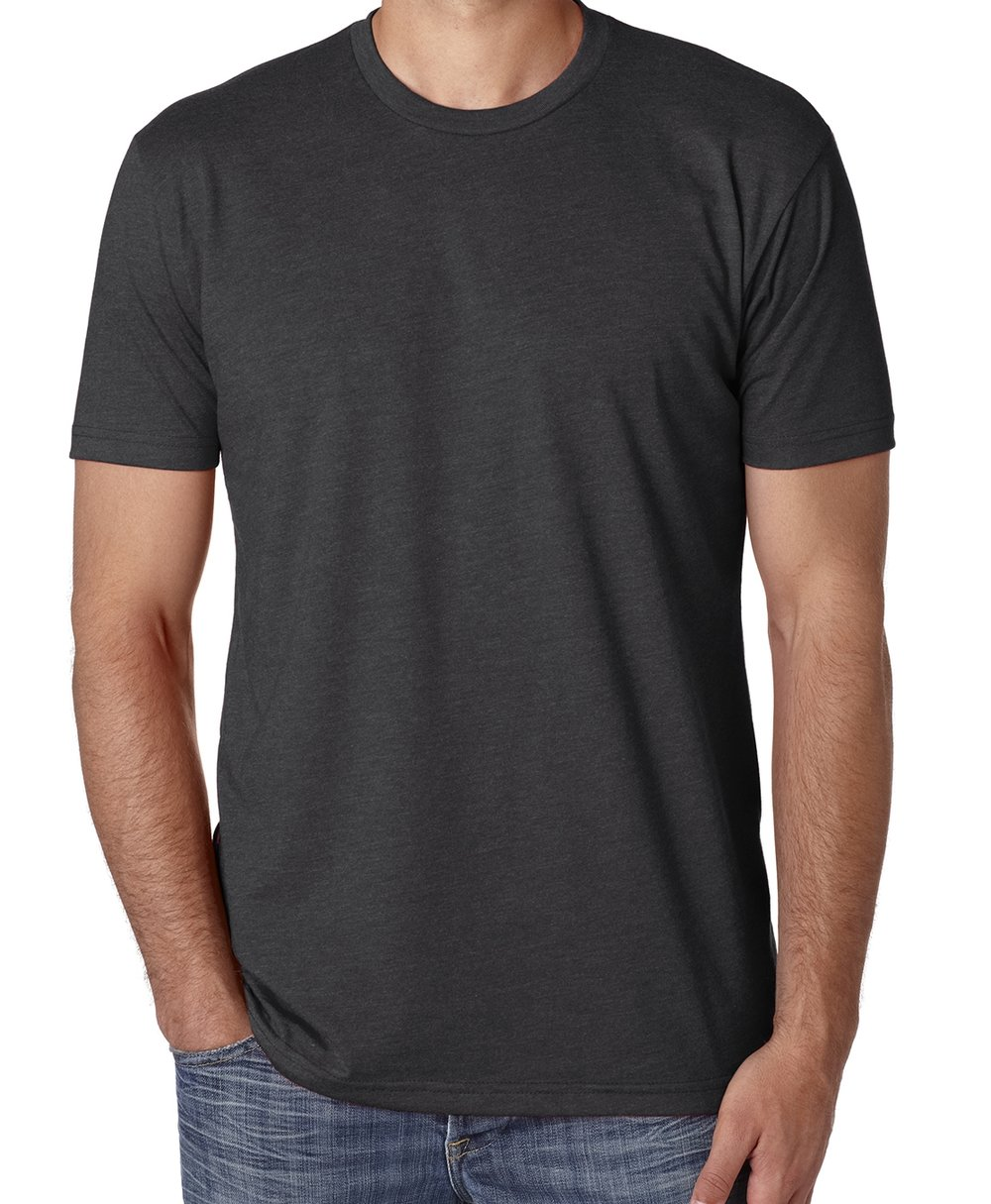 Unisex CVC crew neck t-shirt (cotton polyester blend, great fit, very soft, $$).