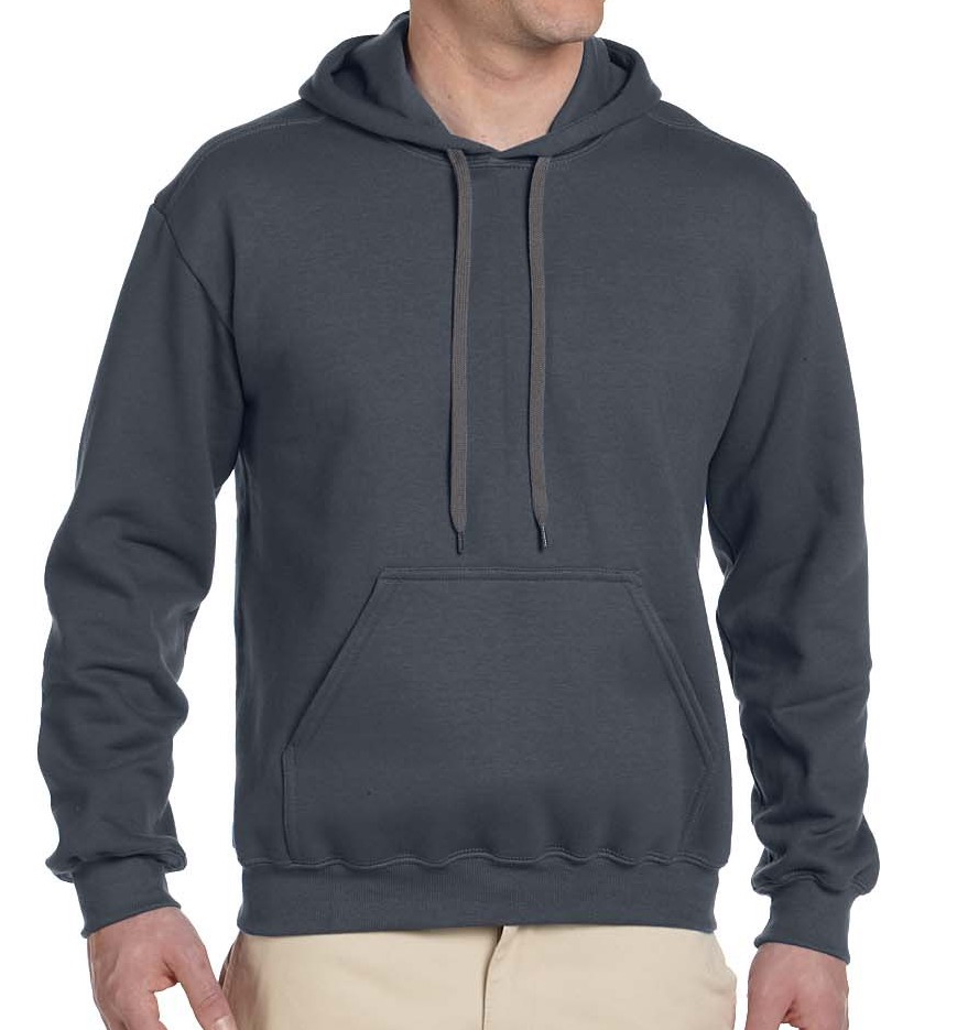 Unisex premium cotton hoodie (cotton poly blend, waist length, $$)