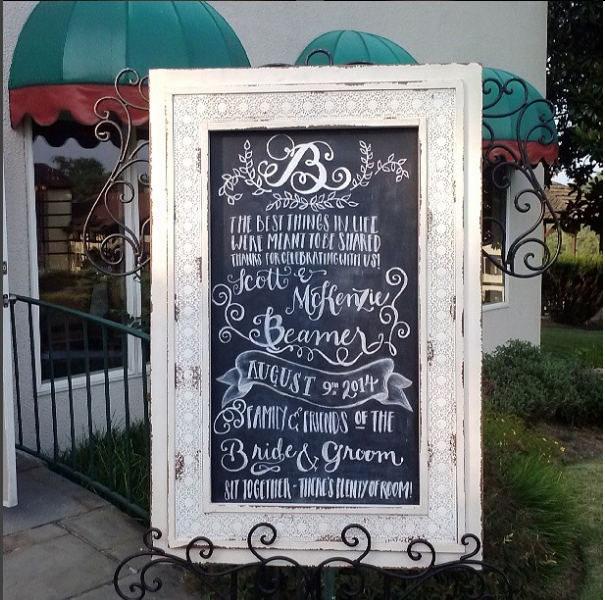 Beamer Wedding Welcome Sign