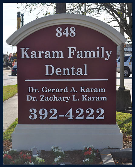 karam family dental sign