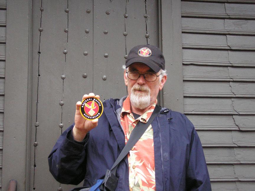 T in front of the Revere House in Boston, Massachusetts.